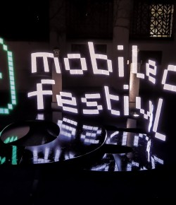 Light Painting auf dem mobile clip festival 2015