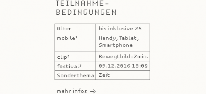 Teilnahmebedingungen mobile clip festival