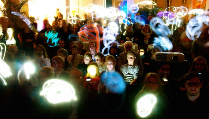 Lightpainting beim mobile clip festival